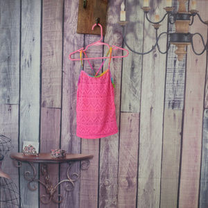 Other - Girls size 7/8 op neon pink bathing suit top AB11